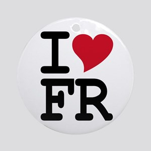 France Heart Ornament (Round)