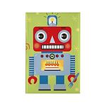 Rectangle Green Robot Magnet
