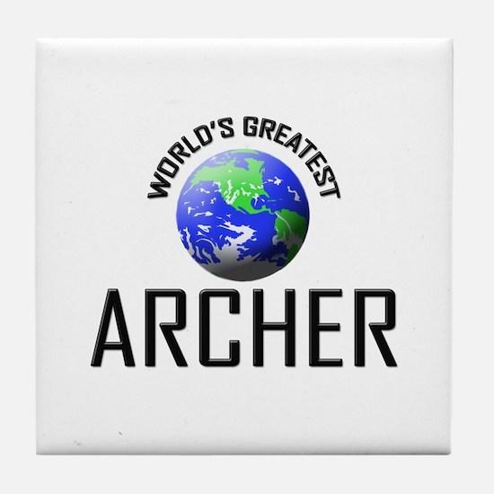 World's Greatest ARCHER Tile Coaster
