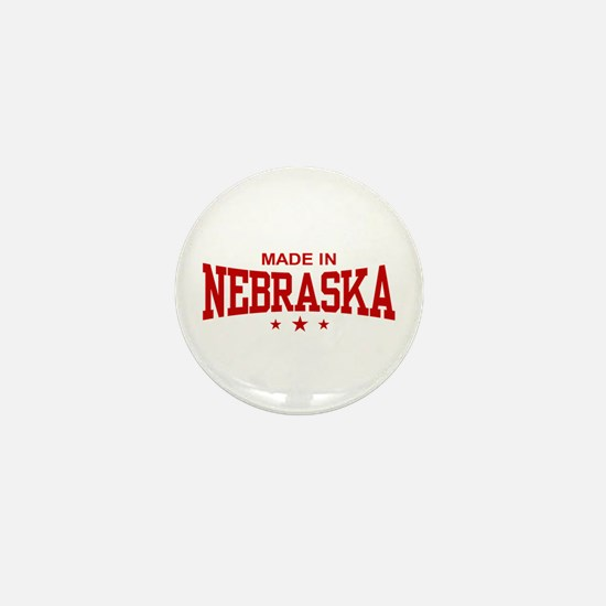 Made In Nebraska Mini Button