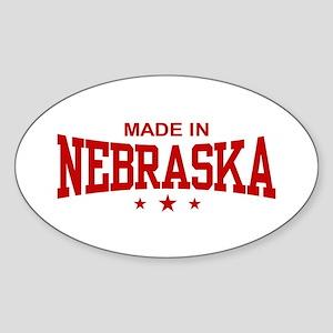 Made In Nebraska Oval Sticker