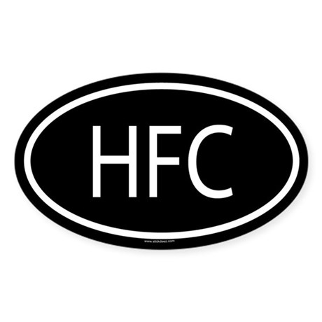 HFC Oval Sticker
