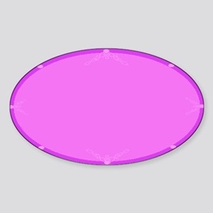 BLANK CREATE YOUR OWN WITH DECORATI Sticker (Oval)