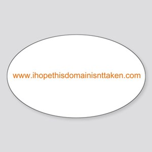 Domain Taken Oval Sticker
