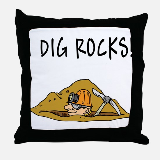 Rockhound Throw Pillow