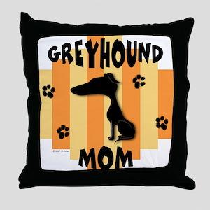 Greyhound Mom Throw Pillow