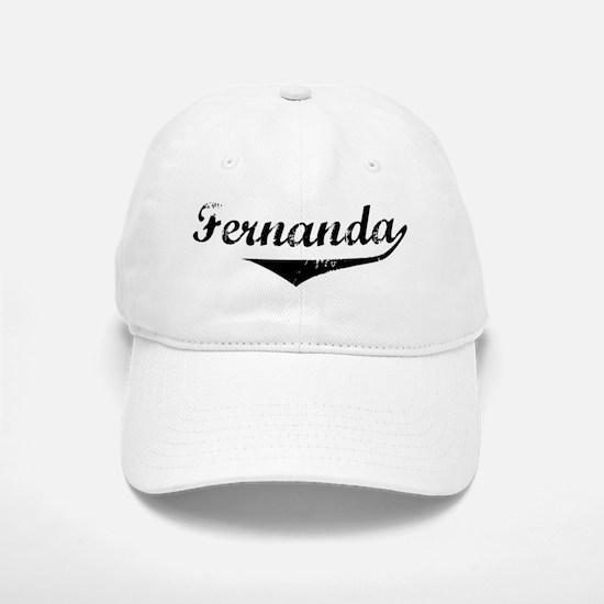 Fernanda Vintage (Black) Baseball Baseball Cap