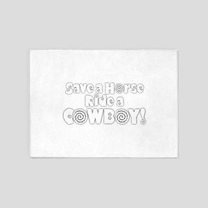 Cowboy 5'x7'Area Rug