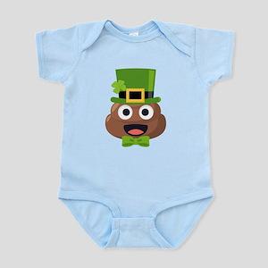 Poo St. Pattys Baby Light Bodysuit