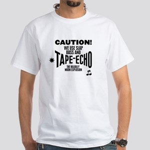 Slap Bass and Tape Echo White T-Shirt