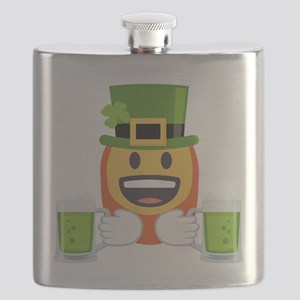 Red Beard Green Beer Flask
