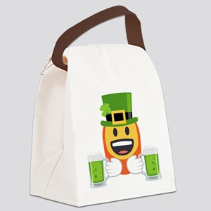Red Beard Green Beer Canvas Lunch Bag