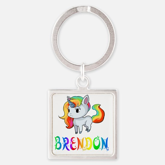 Funny Brendon Square Keychain