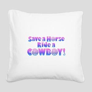 Cowboy Square Canvas Pillow