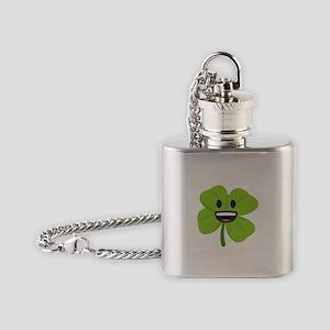 Shamrock Face Flask Necklace