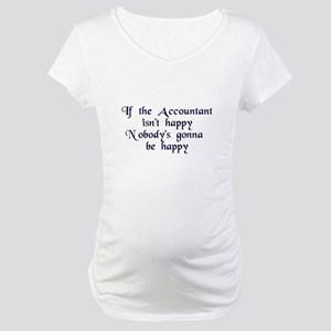 Accountant Maternity T-Shirt