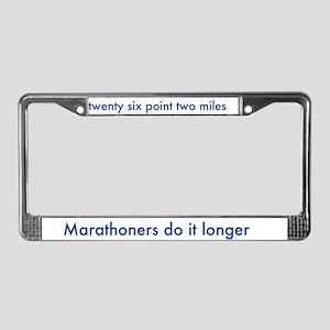 License Plate Frame- for marathon runners