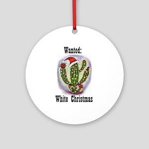 Christmas White Ornament (Round)