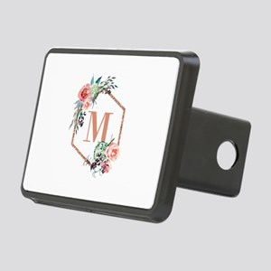 Chic Floral Wreath Monogram Hitch Cover
