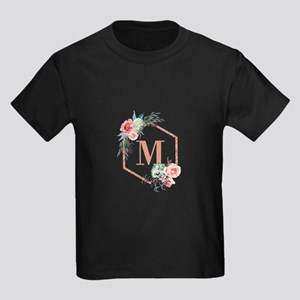 Chic Floral Wreath Monogram T-Shirt