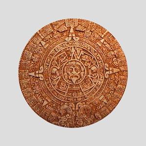 "Mayan Calendar New World 3.5"" Button"