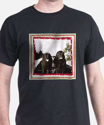 Holiday Newfies Ma & Pa T-Shirt