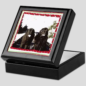 Holiday Newfies Ma & Pa Keepsake Box