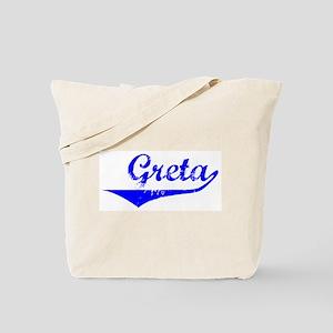 Greta Vintage (Blue) Tote Bag