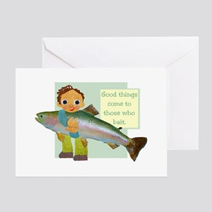 Little Fisher Greeting Card