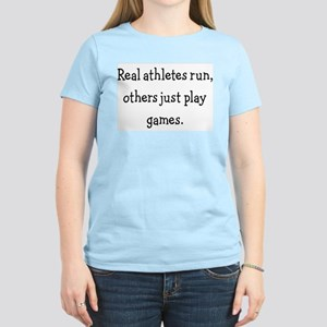 Womens Pink T-Shirt- runners are the best athletes