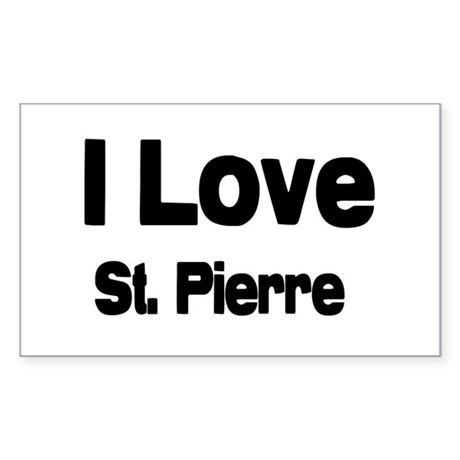 i love St. Pierre Rectangle Sticker