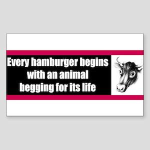 Begging For Its Life Bumper Sticker Sticker