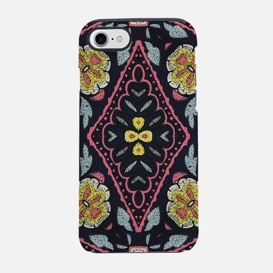 bohemian floral tribal patte iPhone 8/7 Tough Case