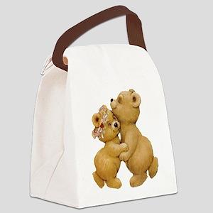 Cute Dancing Teddy Bears Canvas Lunch Bag