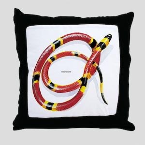 Coral Snake Throw Pillow