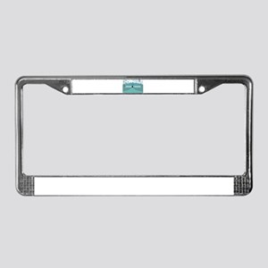 Blue Circus Scene License Plate Frame