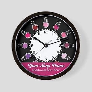 Custom Nail Salon Wall Clock
