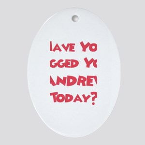 Have You Hugged Your Andrew? Oval Ornament