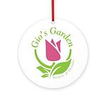 Gio's Garden Round Ornament