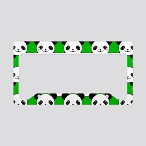 Kawaii Panda Bear Pattern License Plate Holder
