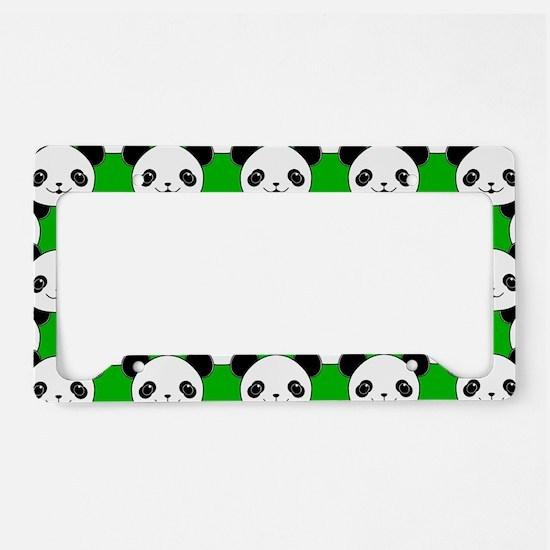 Kawaii Panda Bear Pattern License Plate Holder