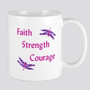Faith Strength Courage Stainless Steel Travel Mugs