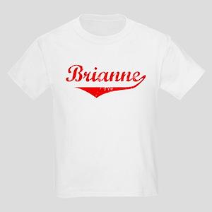 Brianne Vintage (Red) Kids Light T-Shirt