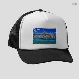 Paradise on the Greek Shore Kids Trucker hat