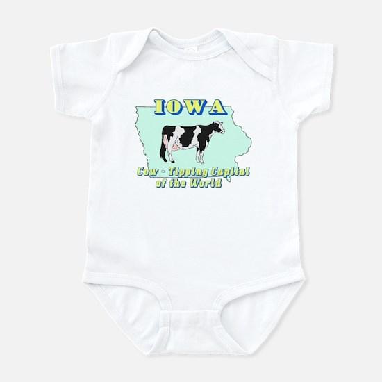 Iowa Cow Tipping Infant Bodysuit