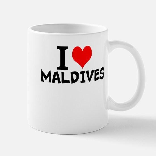 I Love Maldives Mugs