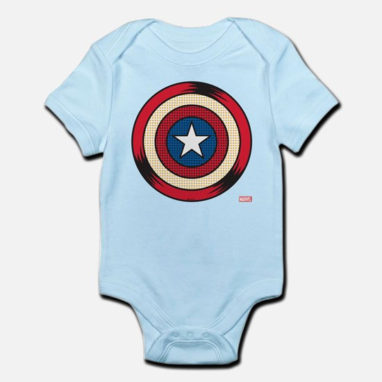 Captain America Comic Baby Light Bodysuit
