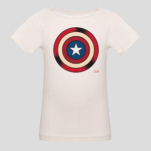 Captain America Comic Organic Baby T-Shirt