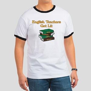 English Teachers Get Lit Ringer T