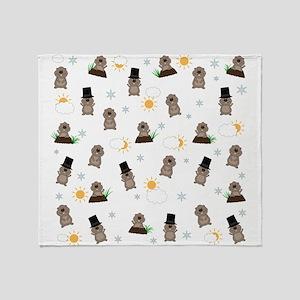 Groundhog Day Pattern Throw Blanket